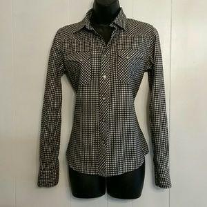 Ralph Lauren Snap Front Shirt sz 6 Brushed Cotton